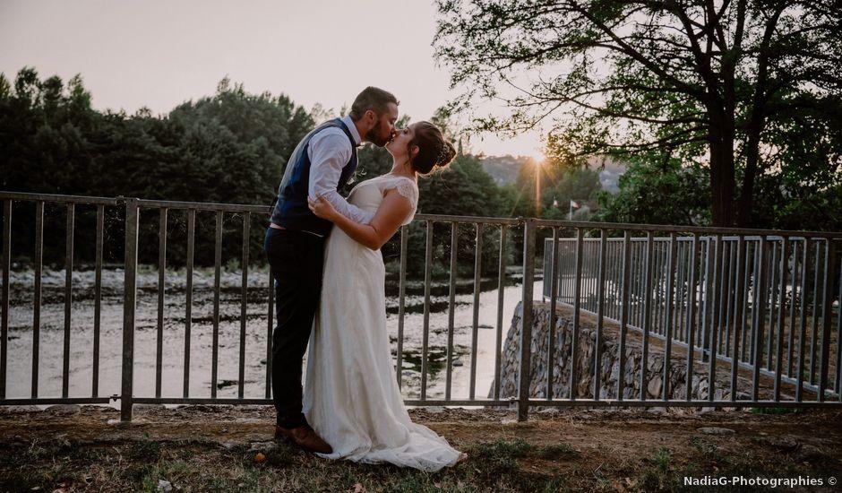 Le mariage de Felicien et Helene à Saint-Privat, Ardèche