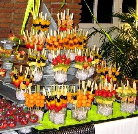 comment presenter les fruits sur le buffet  - banquets