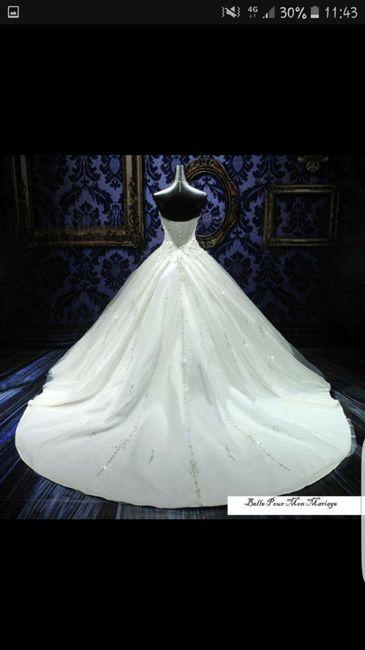 Photo de votre robe de mariée achetée sur internet 2