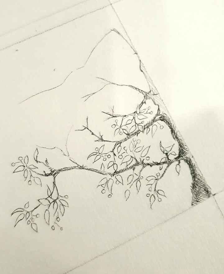 Côté droit, ébauche d'arbre