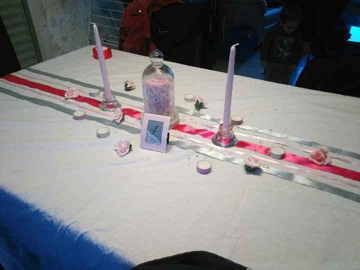 Decoration table rectangulaire - 1