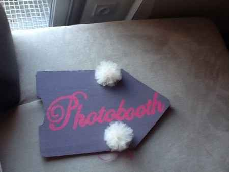 Première pancarte photobooth DIY