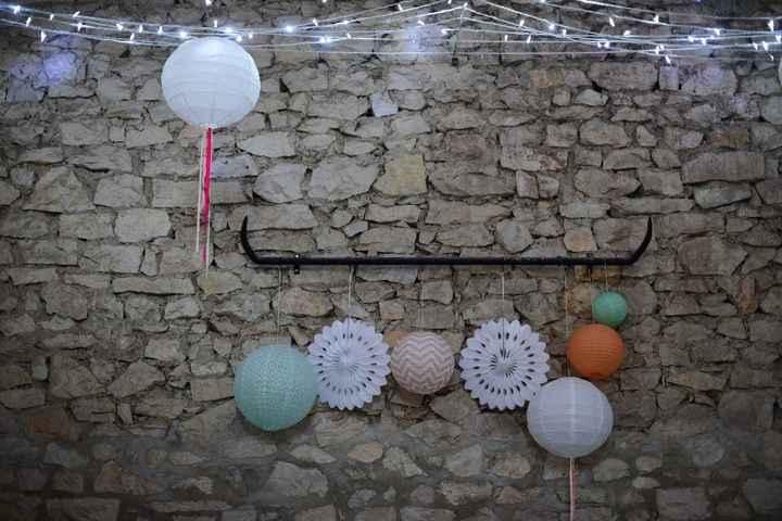 décoration de salle champetre