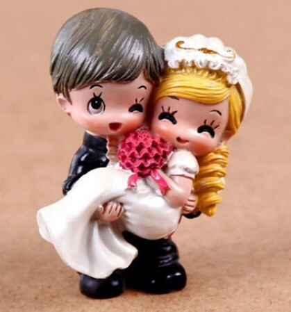 Figurines de mariés - gâteau - 1