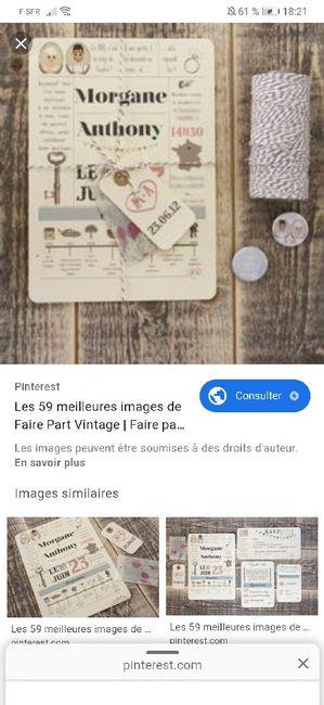 Faire part maison vintage - 2