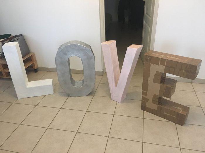 Lettres géantes : LOVE - 1