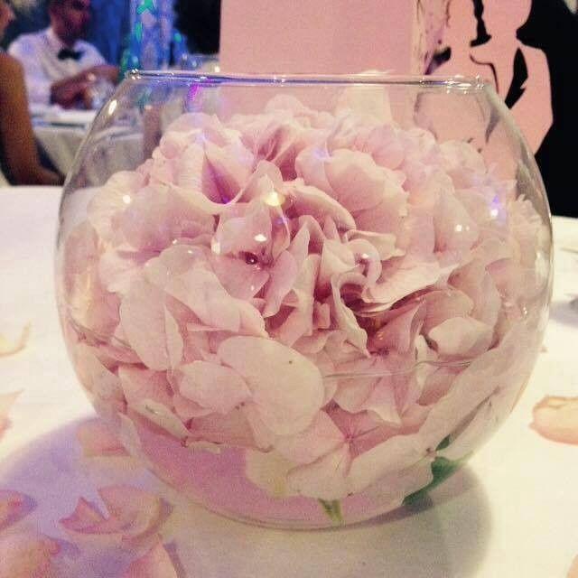 Masse d'hortensia - déco table