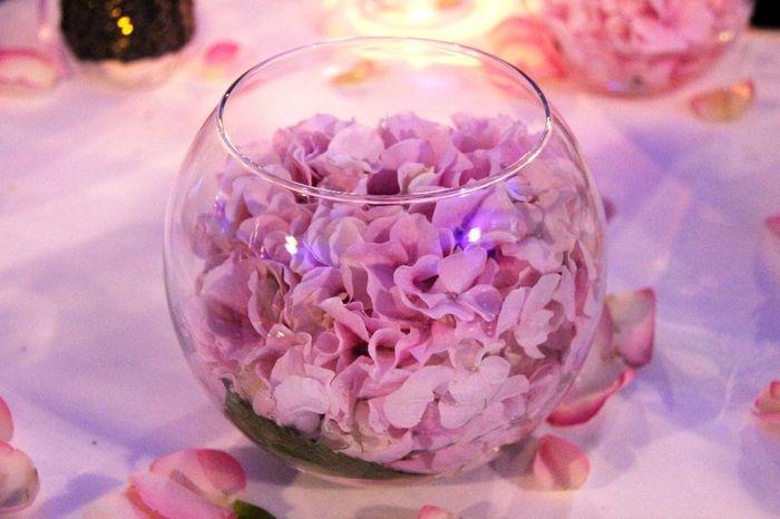 Masse d'hortensia - déco table 2