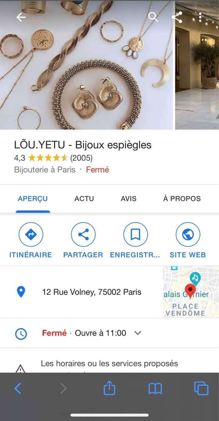 Recherche bijouterie Paris - 1