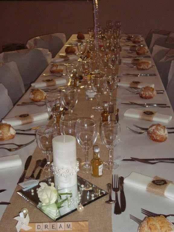 décoration table A& J