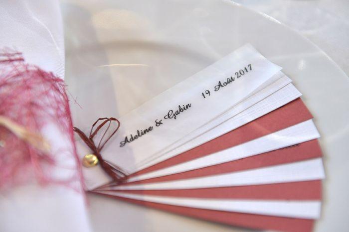 Mariage civil -Thème Rouge bordeaux / blanc 3