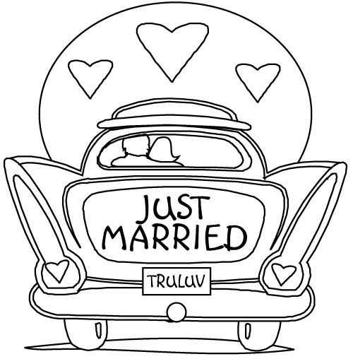 Coloriage just maried
