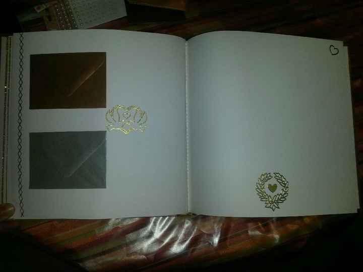 Début de mon livre d'or à enveloppes - 2