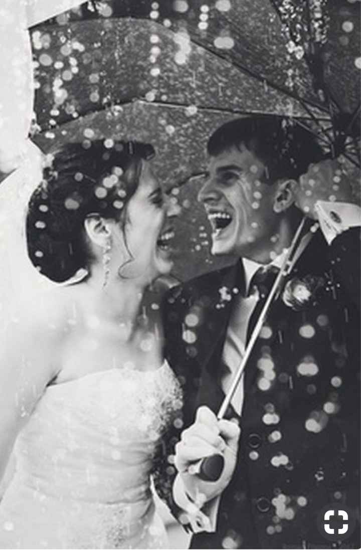 Mariage pluvieux mariage.... ☔️ 😁 - 1