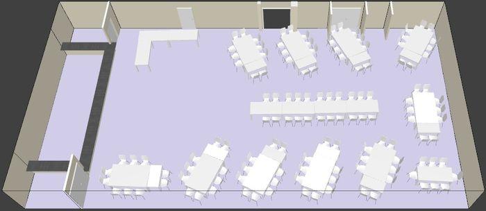 Disposition des tables dans ma salle besoin de votre - Comment disposer les tables pour un mariage ...