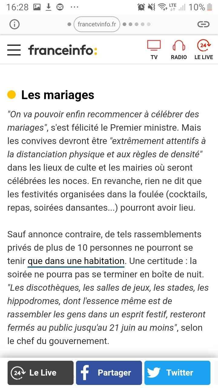 Mariage et coronavirus - 1