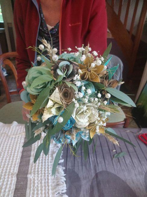 Bouquet de Mariée origami 5