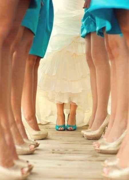 chaussures mariée et DH assorties