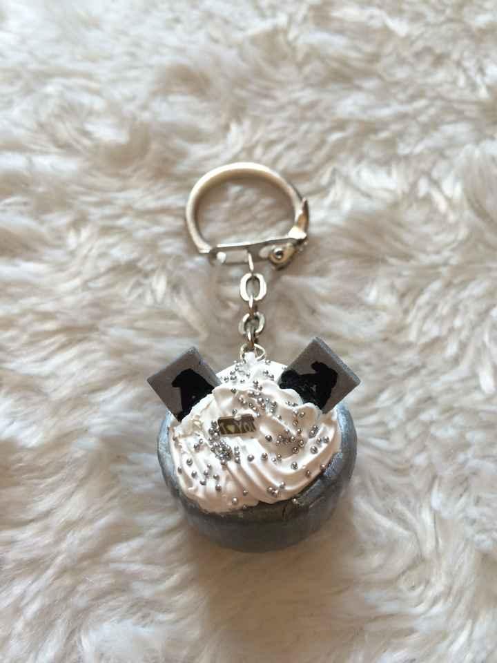 Porte clef cup cakes cadeaux invitées