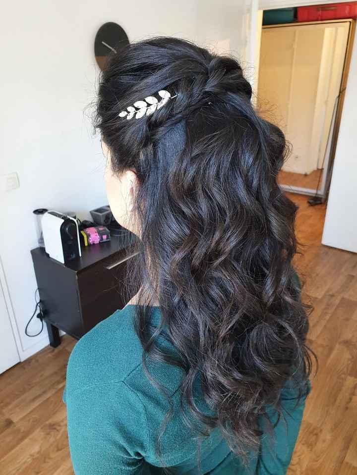 Essai coiffure mariage civil - 2