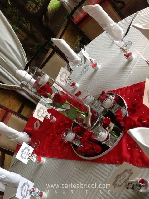 mariage rouge et blanc d coration forum. Black Bedroom Furniture Sets. Home Design Ideas