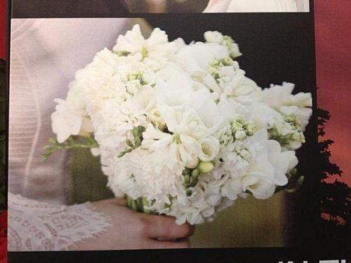 Bouquet de mariées à remercier