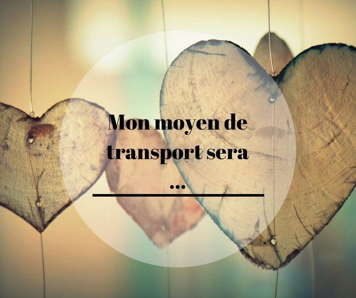 Mon moyen de transport sera ... 🚙 1
