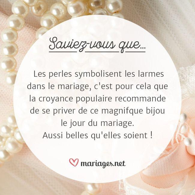 Savez-vous pourquoi il ne faut pas porter de perles le jour J ? 👰 1