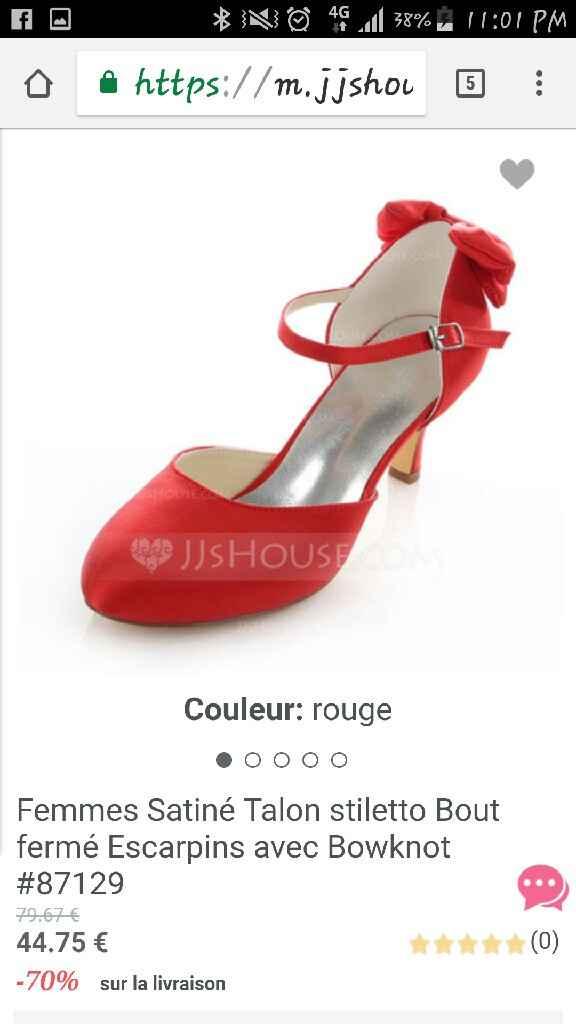 Chaussures rouges recherche - 1