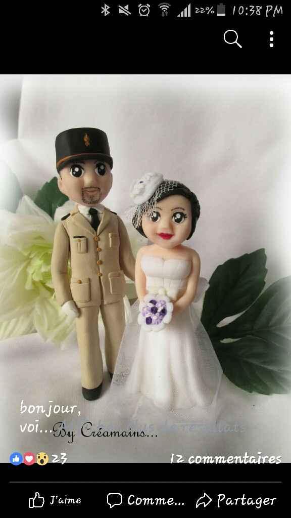 Figurine wedding cake. Thème: les voyages/l'aérien - 1