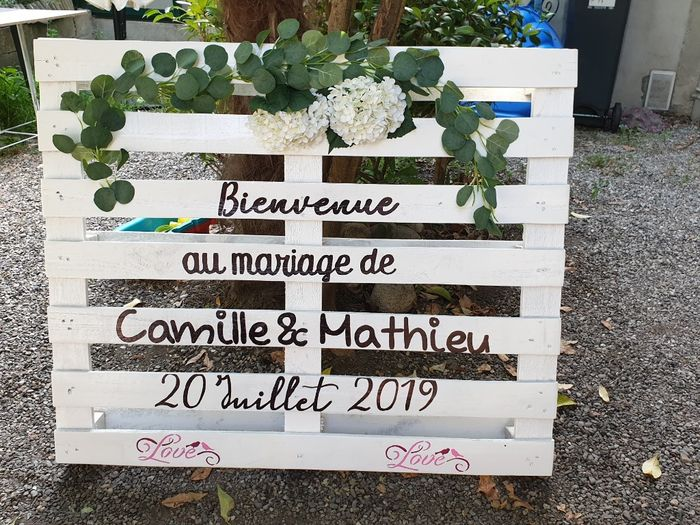Pancarte ou indication mariage 1