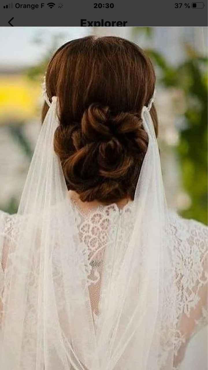 Voile+barrette de fleurs dans les cheveux: c'est trop? - 1