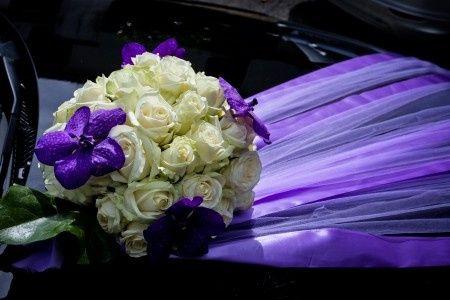 Mon mariage du 14.09.13 : La décoration en parme, blanc et gris ...