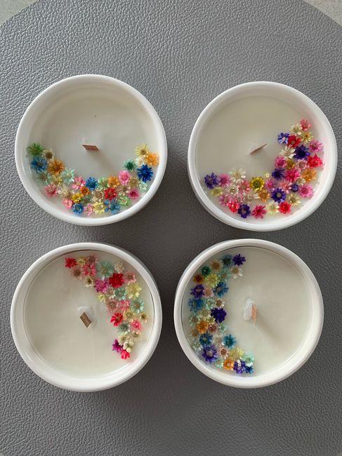 Bougies fleuries 1