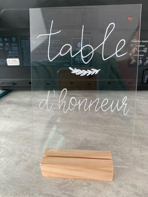 Numéro de table 1