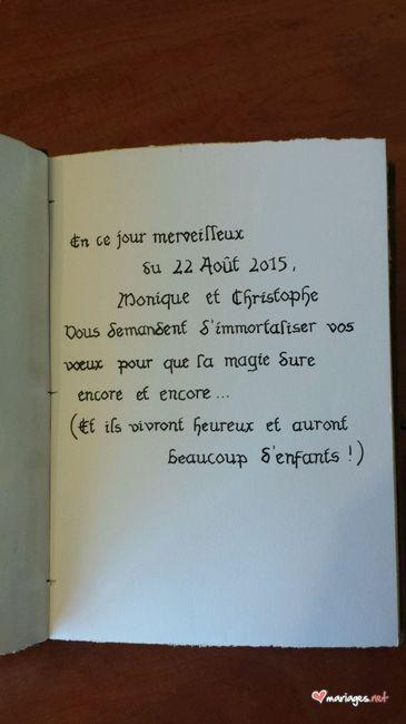 Petit mot livre d 39 or photo organisation du mariage - Mot livre d or mariage ...