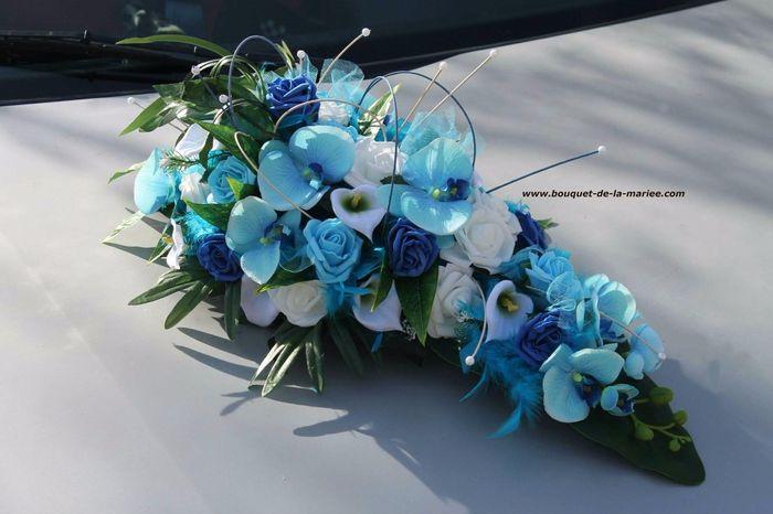 Decoration Voiture Mariage Composition Florale Ou Kit Original