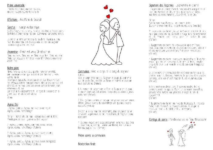 Hervorragend Mon livret de messe - Cérémonie de mariage - Forum Mariages.net SY45