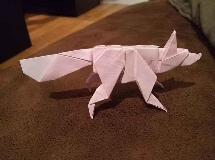 Diy origami, une table de plus dans ma canopée! - 1