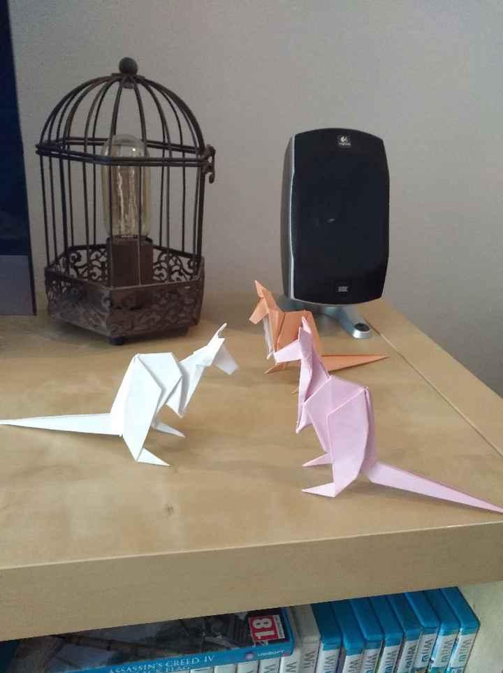 Un nouvel animal origami pour mes tables! - 1