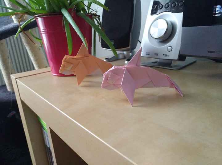 Nouvel animal origami pour mes tables ... - 1