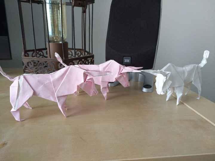 Diy origami marque place, les petits nouveaux - 2
