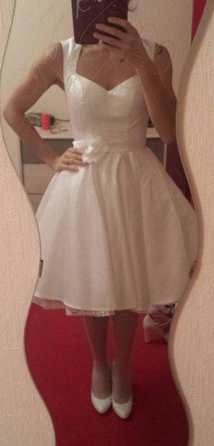 Ma robe pour la cérémonie civile... est arrivée! - 2