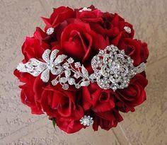 Bouquet mari e sans fleur ou fausse fleur avant le mariage forum - Strass pour bouquet de mariee ...