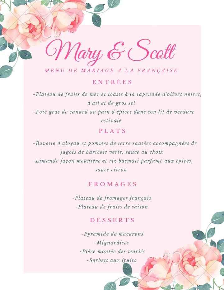 Le menu de ton mariage  🍽️ - 2