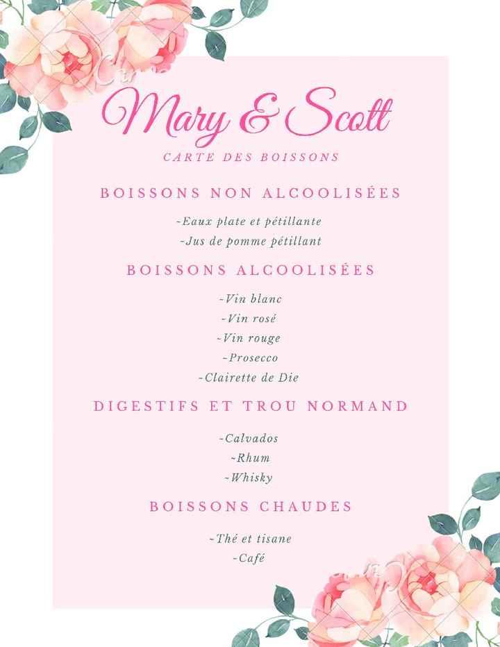 Le menu de ton mariage  🍽️ - 3