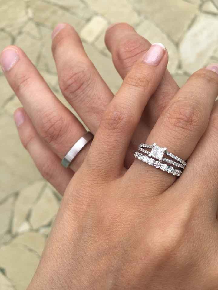Alliance et bague de fiançailles - 1