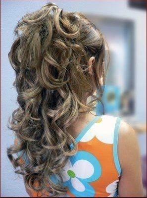Coiffure cheveux mi long semi attache