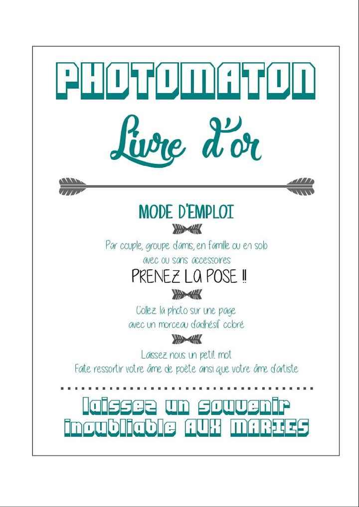 Affiche Consigne Photobooth Decoration Forum Mariages Net