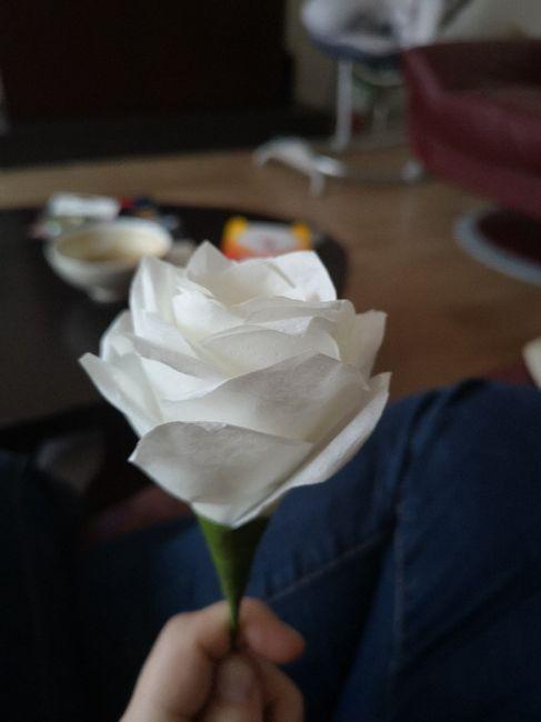 Tutoriel Rose en filtre à café pour boule 1